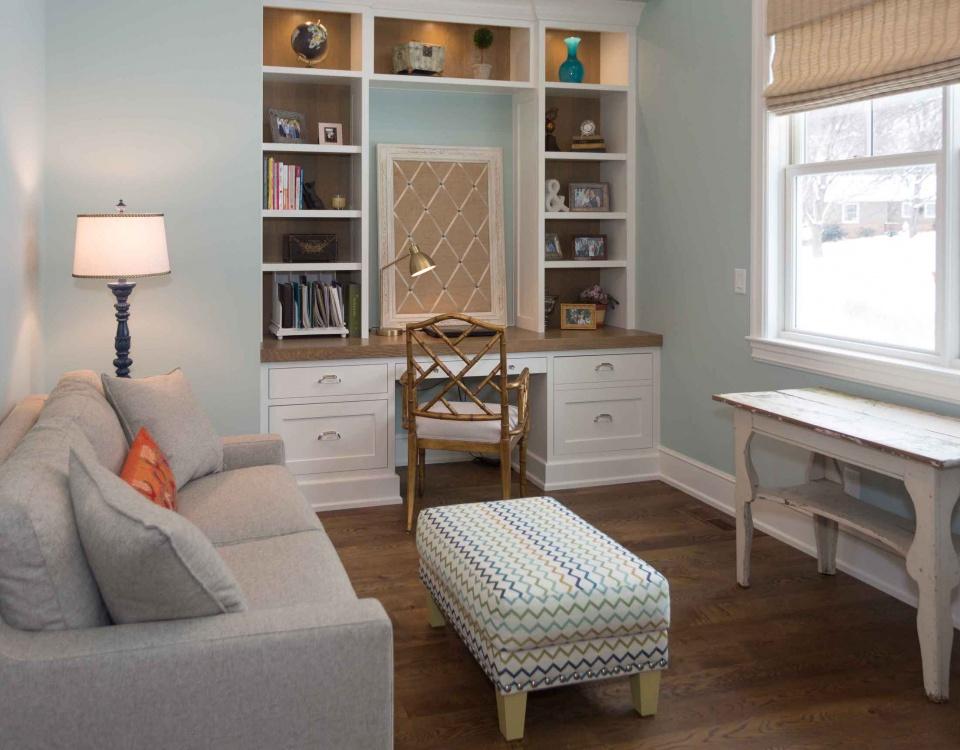 Dawn, Paint-grade maple, Built-in, Quarter-sawn white oak, Den, Office,